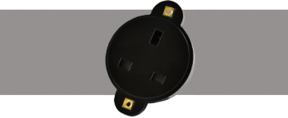 Power Connectors 13A Connector Black