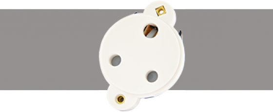 Power Connectors 15A Connector White