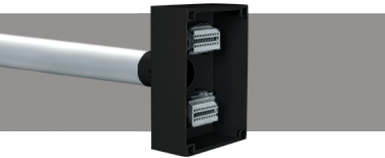 Lighting Bar Termination Boxes DIN Rail Mount Terminals Black
