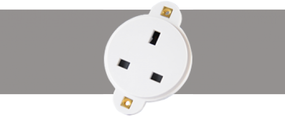 Power Connectors 13A Connector White
