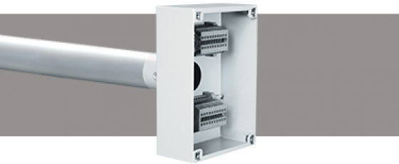 Lighting Bar Termination Boxes DIN Rail Mount Terminals Silver