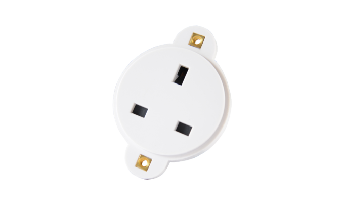 13A Connector White
